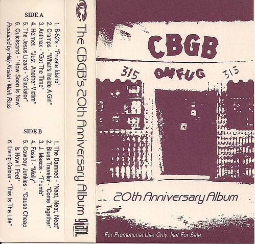 04/16/95 CBGB 20th Anniversary Album (Cassette J-Card)
