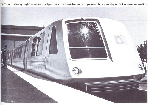 BART car and logo, summer-fall 1965