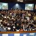 Gran foto de familia de todos os estudantes e profesores, xunto cos organizadores, da Galiciencia 2009.