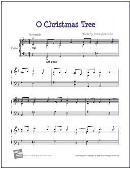 O Christmas Tree (Peanuts) | Easy Jazz Piano Sheet Music (… | Flickr