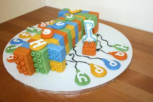 Henry's 1st Birthday Lego Cake III