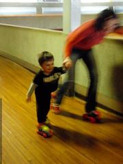 rachel and sequoia skating at oaks park   PB280048