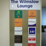 Manchester Airport T1 Servisair (Wilmslow) Lounge signs at entrance
