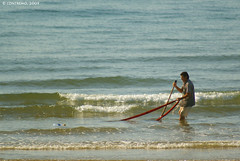 Mariscando en Isla Cristina (Huelva)