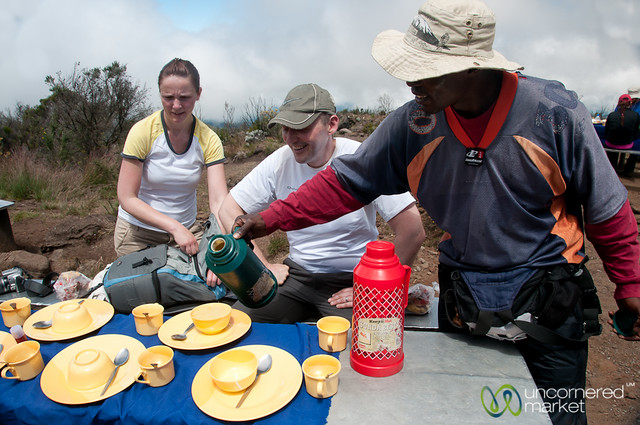 Carrot Soup for Lunch - Mt. Kilimanjaro, Tanzania