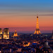 Paris from Bastille @ sunset by A.G. Photographe