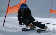 ice boat(0.0), nordic skiing(0.0), ski equipment(1.0), winter sport(1.0), ski cross(1.0), ski(1.0), skiing(1.0), sports(1.0), snow(1.0), extreme sport(1.0), slalom skiing(1.0), downhill(1.0), telemark skiing(1.0),