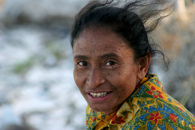 Portrait of a woman in Timor.