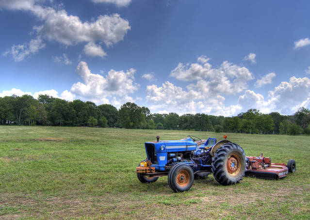 My granddaddy's blue tractor