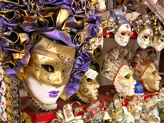 Shop window with masks, Venice