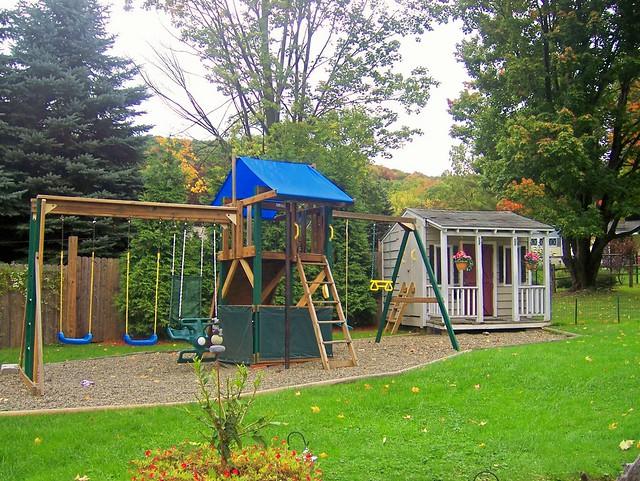 backyard playground equipment  Flickr  Photo Sharing!