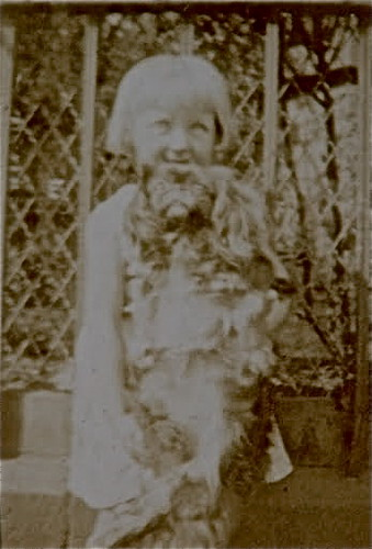Gladys and dog
