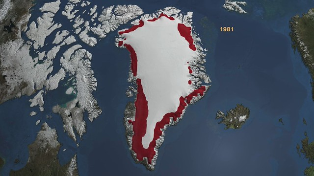 Annual Accumulated Melt over Greenland 1979 through 2007 [HD Video]