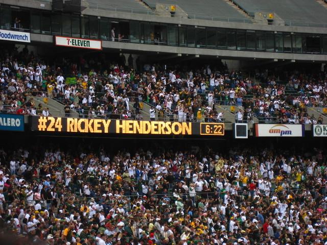 Rickey Henderson Day