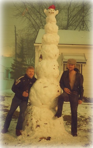 The Tall Tipsy Snowman... Or should I Say Snowmen  ; ) by Purpletree..(Nancy Lee)