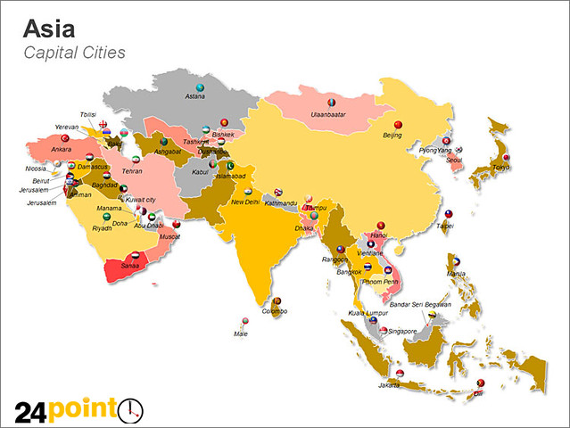 Asian capitals and countries