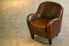 floor, armrest, club chair, furniture, brown, chair,