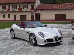 family car(0.0), mercedes-benz slr mclaren(0.0), automobile(1.0), automotive exterior(1.0), alfa romeo(1.0), vehicle(1.0), automotive design(1.0), alfa romeo 8c(1.0), alfa romeo 8c competizione(1.0), land vehicle(1.0), luxury vehicle(1.0), supercar(1.0), sports car(1.0),