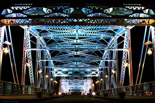 street bridge night lights nashville tennessee pedestrian explore hero winner shelby thechallengefactory