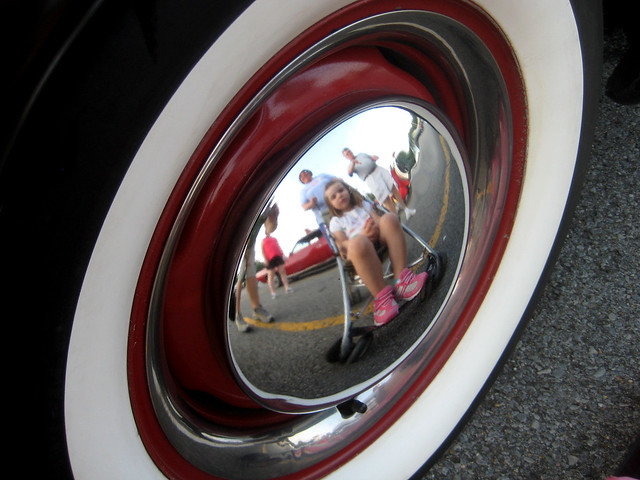 Moon Hubcap Reflection