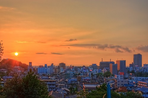 sunset japan cityscape 日本 aichi okazaki hdr 愛知県 photomatix 岡崎市 canon450d kisshouin 吉祥院