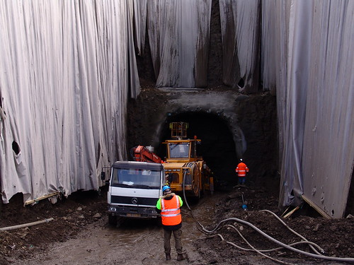 Preparing to blast the tunnel for the seed vault