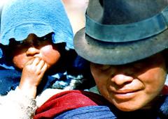 Ecuador, Cañar. 1988 - Native familly
