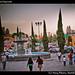 Puebla fair and fountain