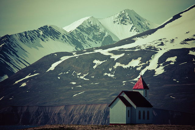Church at Flatey Island, Iceland
