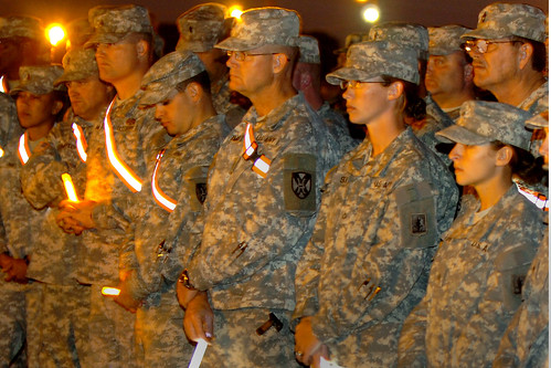 Chemical light vigil at Fort Hood