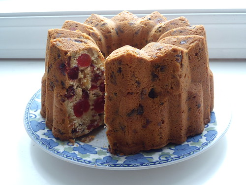 Orange-Cranberry-Nut Fruit Cake
