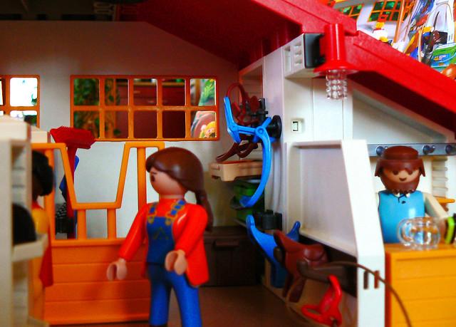 Playmobil reiterhof stalleingang flickr photo sharing for Playmobil 6445