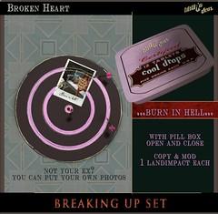 Lilith's Den - Broken Heart - Breaking Up Set - burn in hell