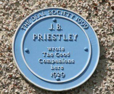 JB Priestley blue plaque