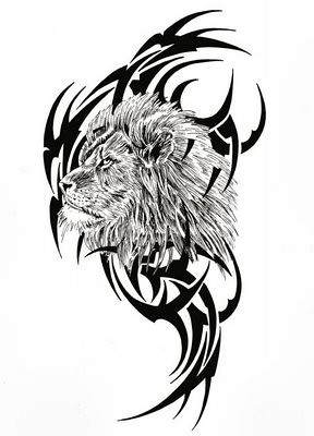 tribal-lion-tattoo-designs