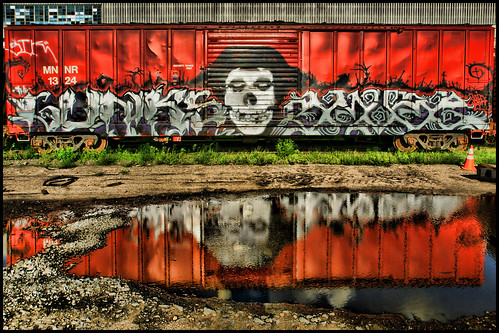 graffiti art train