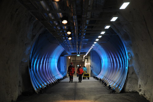 Lit Tunnel of the Svalbard Global Seed Vault
