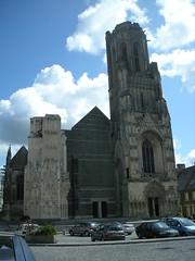 Ce qu'il reste de l'église Notre Dame après la guerre…