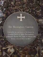 Photo of John Bassingham grey plaque