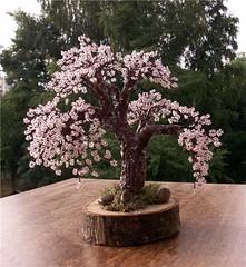 бисеропллетение, денежные деревья из бисера.