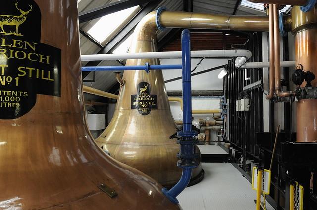 370-20090806_Aberdeenshire-Oldmeldrum-Glen Garioch Distillery-Spirit Stills Nos. 1 & 2