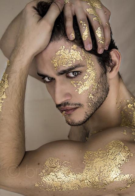 Angel Fashion Gold Dress