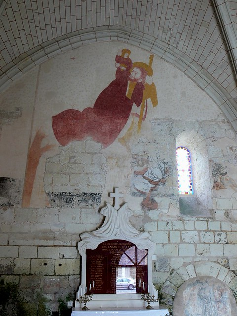 St christopher professor moriarty for Church mural restoration