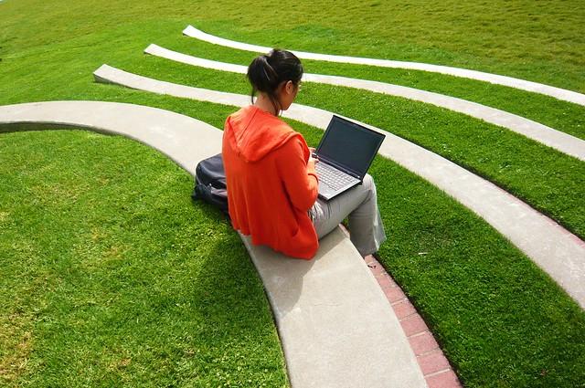 Studying outside Gleeson