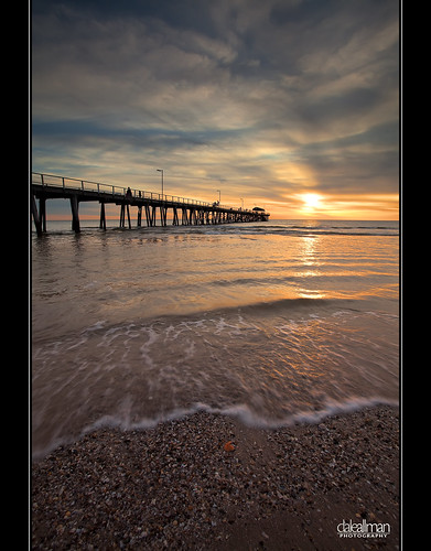 ocean sunset sun seascape reflection beach water clouds seashells canon sand waves jetty australia wideangle explore adelaide southaustralia 1740 henleybeach henleybeachjetty henleyjetty canon5dmkii 5dmkii