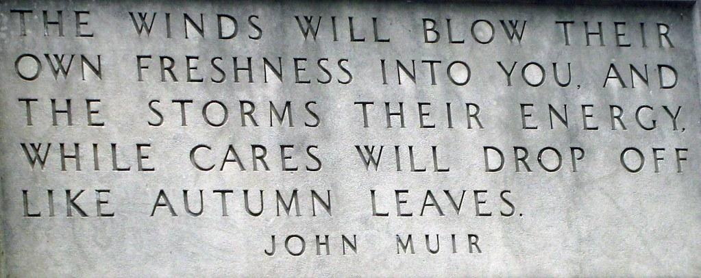 John Muir quote - Indiana Dunes State Park original gate house