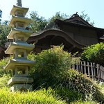 Reproduction of Traditional Japanese home in Huntington Gardens Pasadena California