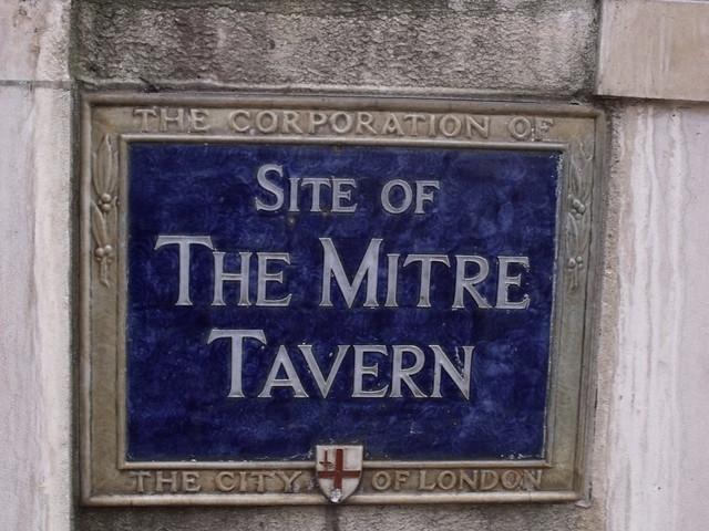 Photo of The Mitre Tavern, London blue plaque