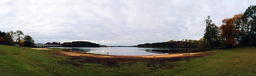 morning trees lake beach clouds landscape stadium southcarolina panoramic paintshoppro memorialstadium clemson hugin lakehartwell architectureexterior paintshopprox2 viewnx ybeach