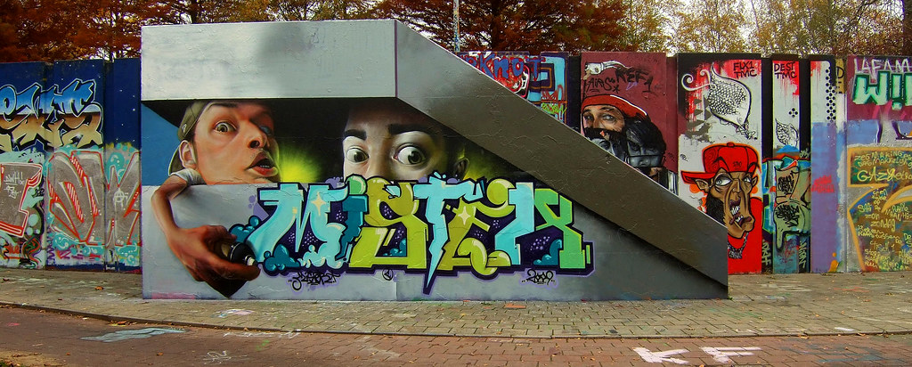 New Graffiti Art Berenkuil Eindhoven Holland